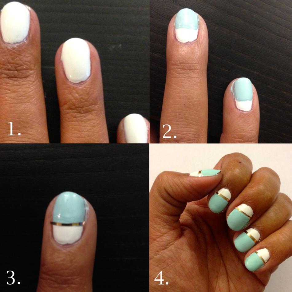 Mint Candy Apple Nail Art